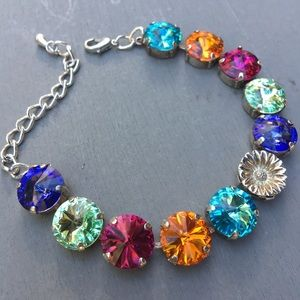 Jewelry - Swarovski Crystal Spring Multicolored Bracelet~NWT